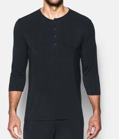 Men's Athlete Recovery Sleepwear Henley *Ships 2/24/17*, Black , zoomed image
