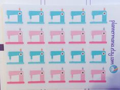 071 Planner Stickers Sewing Stickers Erin Condren by PlannerMania
