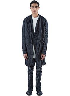 RICK OWENS DRKSHDW Men'S Faun Mid-Length Caban Jacket In Black. #rickowensdrkshdw #cloth #