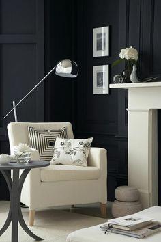 Dark Walls in sitting room.