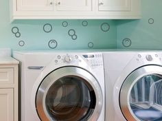 bubbles in the laundry room