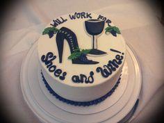 Shoes & Wine cake