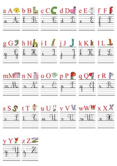 4 Reasons to Learn Handwriting French Alphabet, Alphabet Writing, French Cursive, Cursive Alphabet, French Language Lessons, French Lessons, Learn Handwriting, French Kids, Teaching French