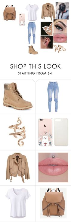 """""""Untitled #338"""" by maddison-baron on Polyvore featuring Timberland, Elise Dray, Maria Tash, AllSaints and prAna"""