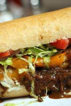 NYT Cooking: Benjamin Wicks, proprietor of Mahony's Po-Boy Shop on Magazine… Po Boy Sandwich, How To Dry Rosemary, Wrap Sandwiches, Gourmet Sandwiches, Steak Sandwiches, Cooking Recipes, Cajun Cooking, Cajun Recipes, Beef Recipes
