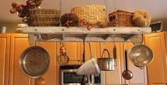 hanging pots in kitchen - Google Search