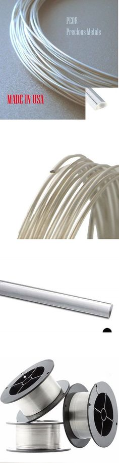 Wire 67714: 25 Ft Sterling Silver 1/2 Round Wire, Gauges 18 To 24, Hh Or Ds, Made In Usa BUY IT NOW ONLY: $31.91