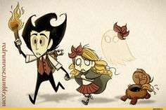 don't starve - Wilson and Wendy