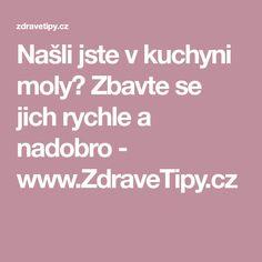 Našli jste v kuchyni moly? Zbavte se jich rychle a nadobro - www.ZdraveTipy.cz Remedies, Household, Home Remedies