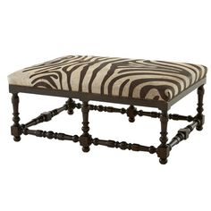 Bench style + zebra print.  COULD BUILD FROM JUST THE RIGHT OLD COFFEE TABLE!