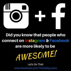 Did you know about this? Maybe we should connect on FB too . Click on my link in bio   #followme on #facebook