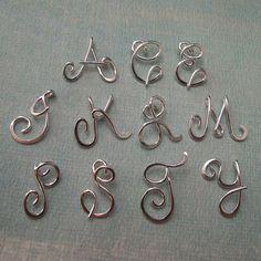 SALE was 80. Small Calligraphy Initial por Laladesignstudio en Etsy