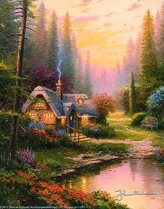 Thomas Kinkade ~c.c.c~ Meadowood Cottage 1996