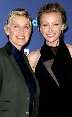Portia de Rossi, Ellen DeGeneres, GLAAD Media Awards
