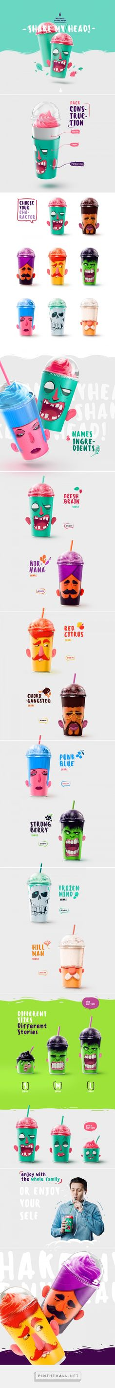Shake my head - the milk shakes packing design on Behance