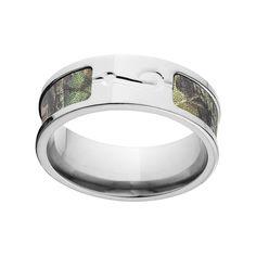 Titanium Mossy Oak New Break Up Camo Ring (Size 12.5), Men's