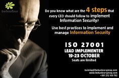 ISO 27001 Lead Implementer. Training and Certification. Register online today.