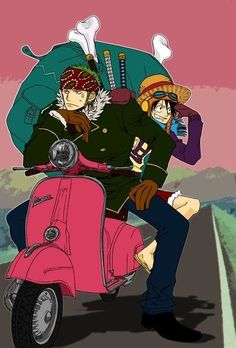 Roronoa Zoro and Monkey D. Luffy