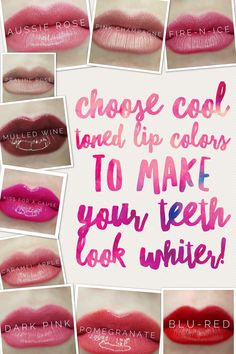 Lipsense cool tone colors to make you teeth look whiter! Click to order, $25