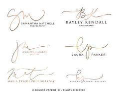 Custom Calligraphy Initials Logo, Handwritten Photography Initials Logo Design,