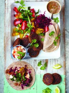 Jamie Oliver Falafel Wraps