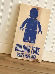 LEGO Wall Sign-Building Zone Watch Your Step
