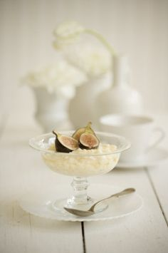 """Christmas dessert shoot for Interior Magazine"" Styling by Paul Lowe. Photography by Colin Cooke #rice #pudding #figs"