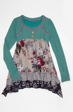 Truly Me 'Mixed Media' Tunic (Big Girls) | Nordstrom
