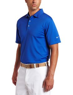4e6eea4f Men Golf Clothing - Nike Golf Mens Stretch UV Tech Polo Game Royal/White  Medium
