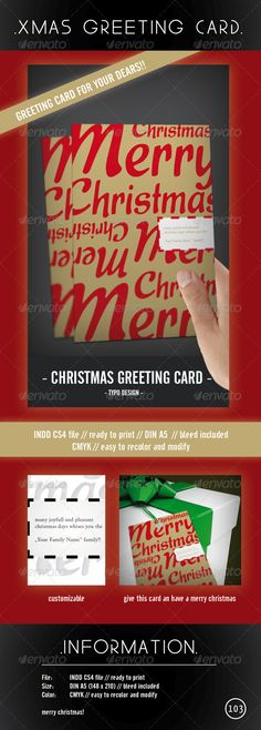 Christmas Invitations - Template Flyer Merry Christmas, Church And