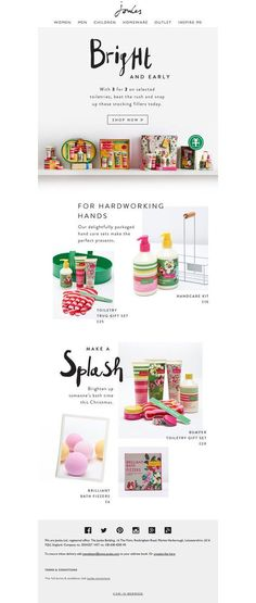 Joules gifts email newsletter - Email Template - Ideas of Email Template - Joules gifts email newsletter Email Layout, Newsletter Layout, Email Newsletter Design, Email Newsletters, Email Marketing Design, Email Design, Blog Website Design, Design Campaign, Web Design