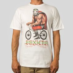 Classic Fit, 5.5oz 100% Cotton Men's T-Shirt in White About the Artist: Munk One is a contemporary American illustrator, poster artist, political cartoonist, and fine artist based in California. Well
