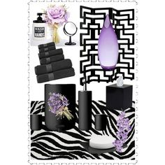 Lilac and Black by chanlee-luv on Polyvore featuring polyvore interior interiors interior design home home decor interior decorating Menu Abyss & Habidecor ZENTS Avanti Royal Velvet Nu Steel Brownstone Laura Cole