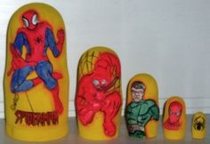 FREE SHIPPING Spiderman Traditional russian nesting doll wooden toy matreshka hand painted gifts for children souvenirs from Russia,