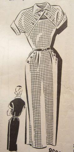Sew Rite 8692 Rare Mail Order Peekaboo Wiggle Dress Sewing Pattern Bust 30 on Etsy, $15.00