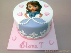 TARTA PRINCESA SOFIA DISNEY HADAS DE AZUCAR GUADALAJARA / DISNEY SOFIA PRINCESS FONDANT CAKE