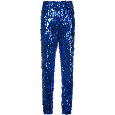 MSGM Sequinned Jogging Pants (7.245 RUB) ❤ liked on Polyvore featuring pants, gift guide /, kirna zabete, the chic rocker, highwaist pants, blue jogger pants, high-waisted pants, blue sequin pants and jogging trousers
