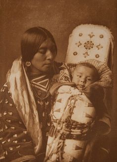 Mother and Child - Apsaroke by Museum of Photographic Arts Collections, via Flickr