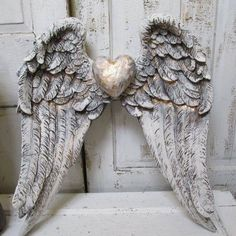 Wings Wall Decor large hand made textured feathered angel wings wall art https