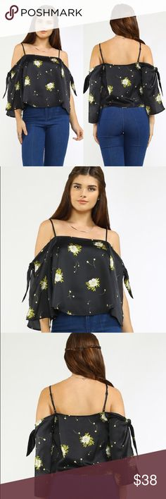 🆕 Floral Off the Shoulder Goddess top Amazing floral print strappy off the shoulder blouse extremely sexy and romantic, perfect for this fall summer transition, in stock and ready to ship! Very bohemian, made by Flying Tomato. Thanks! 🌹 ASOS Tops Blouses