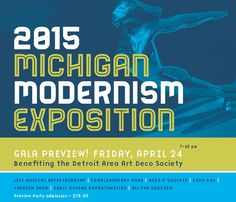 Michigan Modernism Preview Party - get your tickets now at www.daads.org