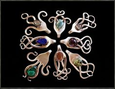 Beautiful Fork Pendants... by SpiralSpiritJewels on Etsy, €32.00