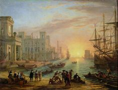 Seaport at Sunset (1639) by Claude Lorrain - WikiArt.org