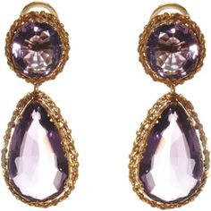 shopstyle.com: Olivia Collings Antique Jewelry Amethyst Double Drop Earrings