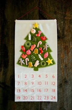 Advent Calender on Purl Bee. Great idea to start this tradition!  Must make this for the girls.