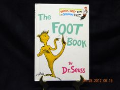 Had to read this to Emily over and over and over...when she was small. The Foot Book Dr. Seuss 1968 on Etsy, $5.00