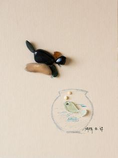 Pebble art by Hara