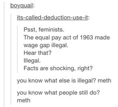 People still do even if it's illegal