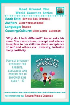 How Our Skin Sparkles - First of It's Kind Children's Book about Skin Color - Raising World Children Asian American, Core Values, Interesting Reads, Growth Mindset, Raising, Sparkles, Childrens Books, My Books