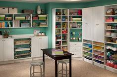 craft room design from closetmaid, verryyy nice!